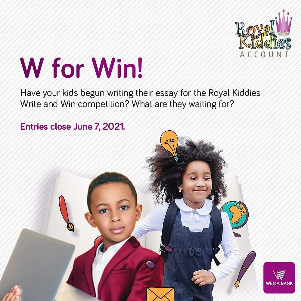 Wema Bank Royal Kiddies Essay Competition Guidelines 2021