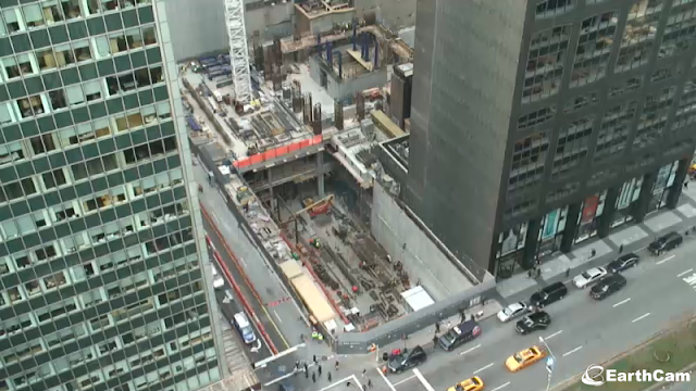 Picture of the construction site as seen from the building on the Park Avenue