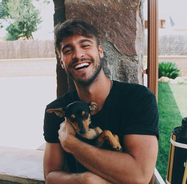 beautiful-guy-dogs-pets-adorable-killer-smile-playing