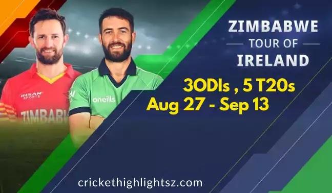 Zimbabwe tour of Ireland 2021 - 3 ODIs   5 T20s