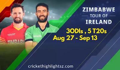 Zimbabwe tour of Ireland 2021