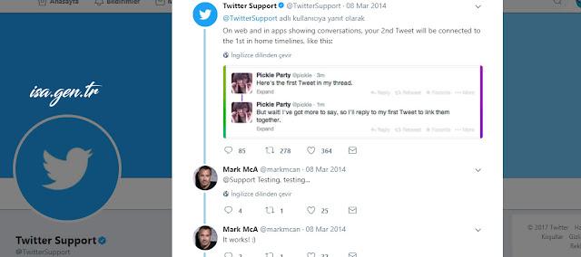 twitter alt alta bağlantılı tweet yazma