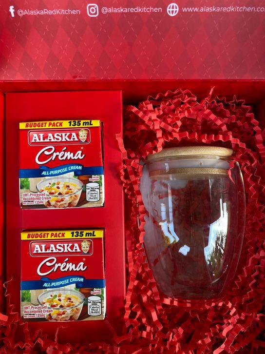 Alaska Crema all-purpose cream and glass