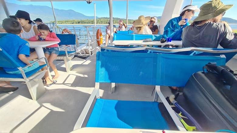 inside the vessel of Frankland Island tour