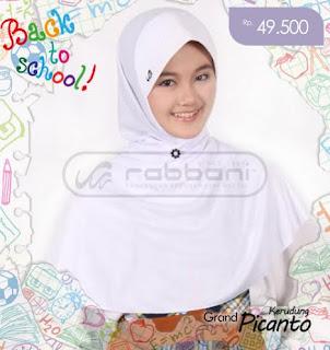 Jilbab Rabbani Untuk Sekolah Warna Putih
