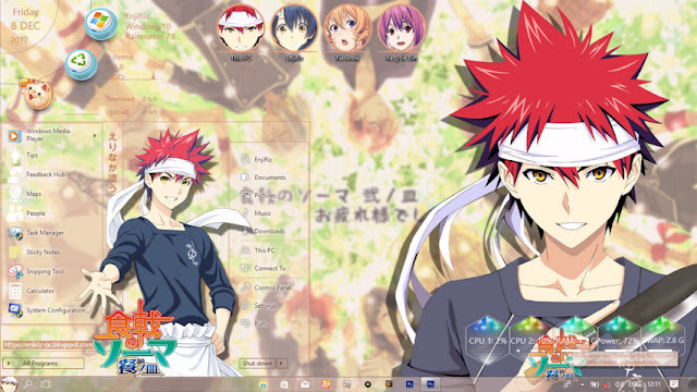Windows 10 Ver. 1703 Theme Shokugeki no Soma by Enji Riz