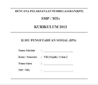 RPP IPS K13 Kelas 7 Revisi Terbaru