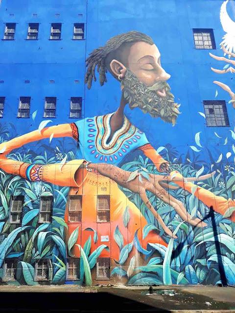 Public art by France's Maye in Salt River, Cape Town