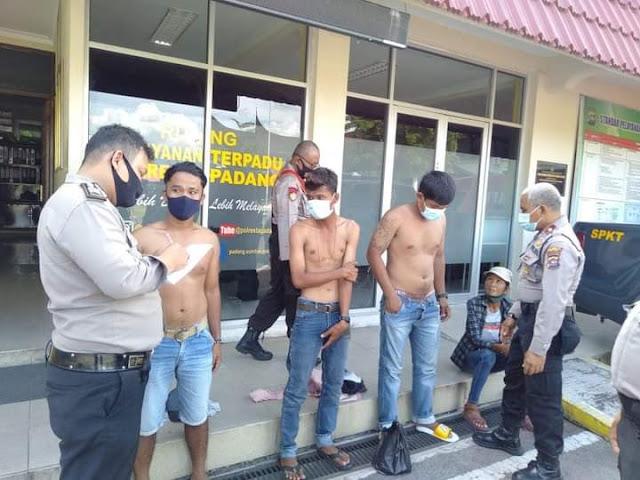 Empat Preman Meresahkan Warga di Bundaran Air Mancur Pasa Raya - sumbarlivetv
