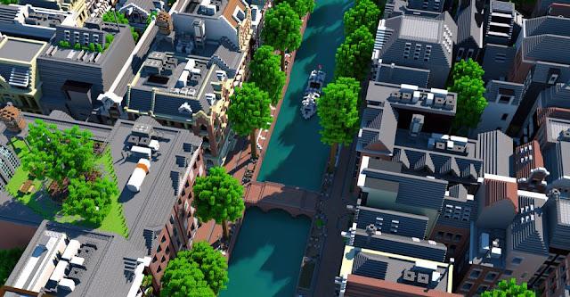 Recriação de Amsterdã em Minecraft é ridiculamente precisa