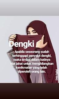 sifat Dengki adalah sikap tdk senang atas kenikmatan yg diperoleh orang  lain lain menjahuhi sifat dengki pada hati manusia