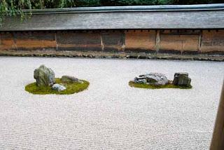 Raked Garden Ryoan-ji Temple Kyoto Japan