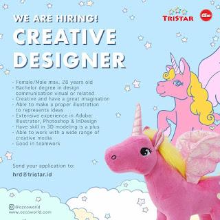 Info Lowongan Kerja Creative Designer Tristar