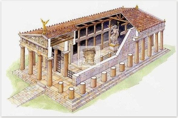 Arte semplice e poi il tempio greco e i suoi elementi un for Disegnare la pianta del piano di casa