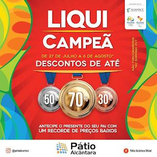 Pátio Alcântara realiza promoção 'Liqui Campeã'