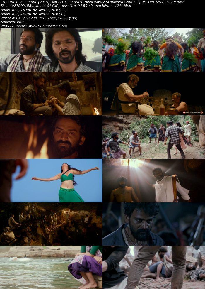 Bhairava Geetha (2018) UNCUT Dual Audio Hindi 480p HDRip 400MB Movie Download