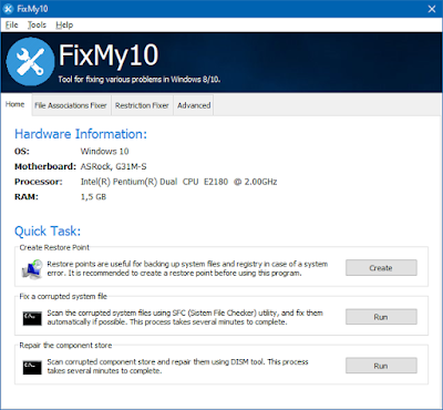 fixmy10, fix windows error