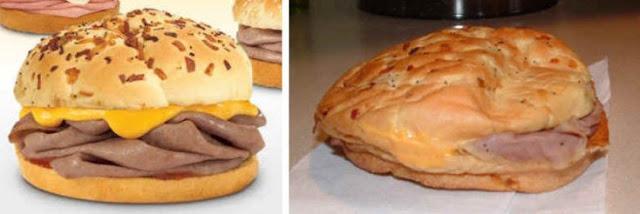 Veja o que o cliente acha que ele vai comer, mais quando recebe outro totalmente diferente