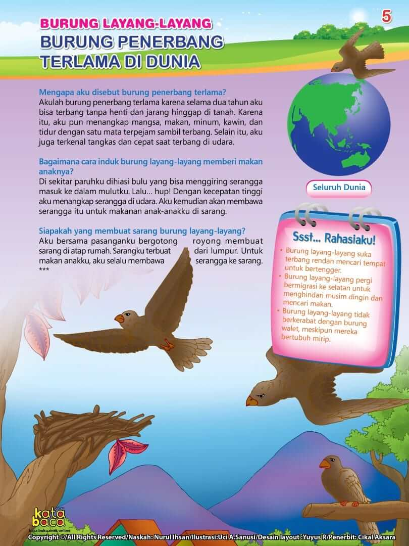 Burung Layang-Layang adalah Burung Penerbang Terlama di Dunia