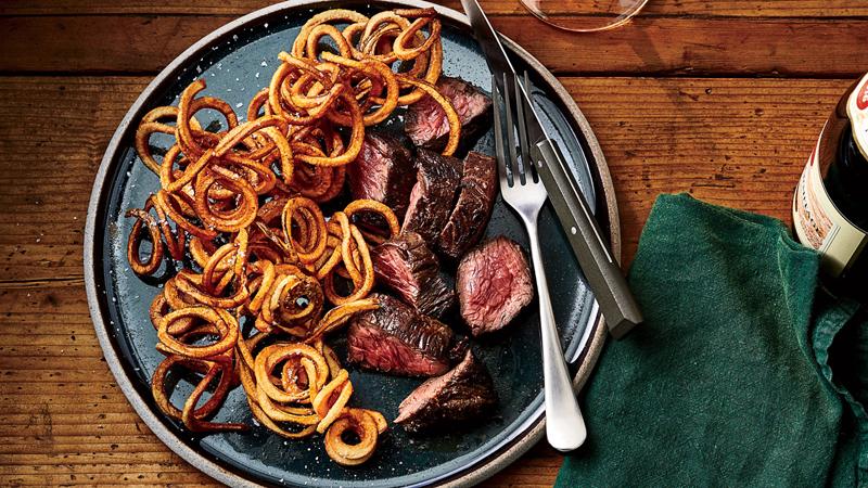 Steak Frites with Black Garlic Butter