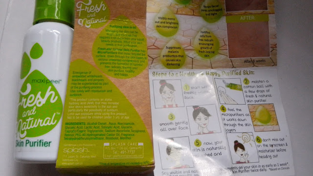 Fresh and Natural SKin Purifer price, beauty blog philippines,