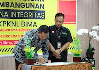 KPKNL Bima Gelar Kegiatan Pencanangan Pembangunan Zona Integritas WBK dan WBBM
