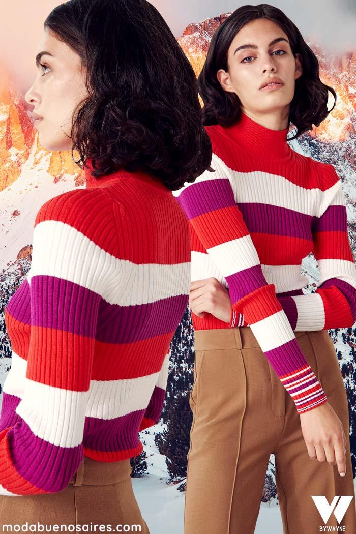sweater a rayas invierno 2021