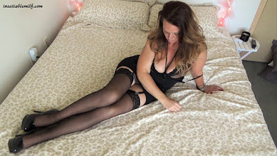 sexy mom high heels lingerie stockings tall milf hot mom