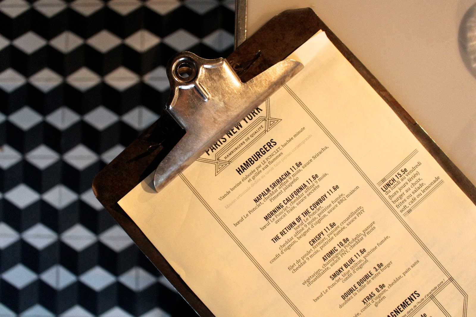 PNY Burgers | Paris New York menu