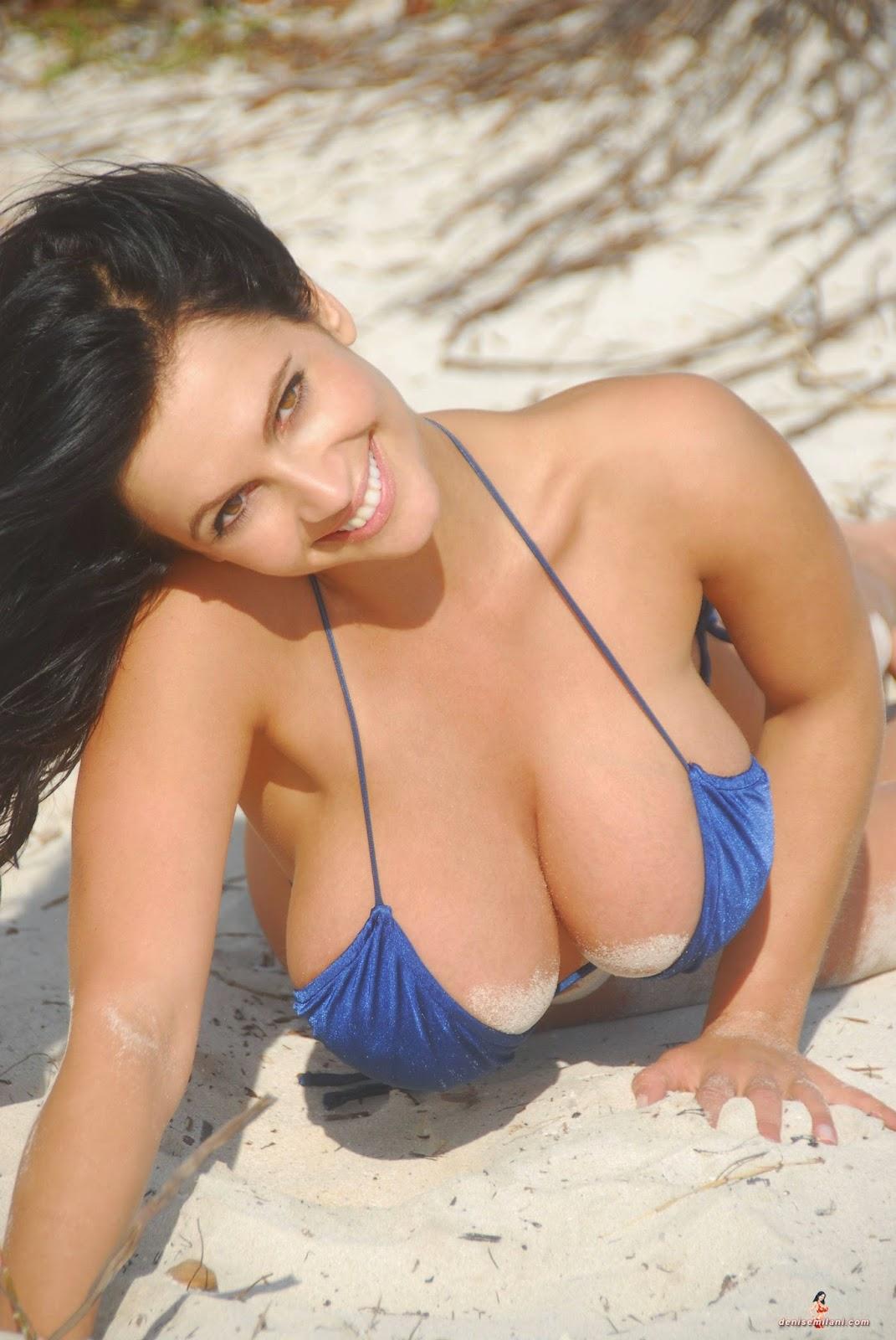 Sweet Girl Face Wallpaper Denise Milani Archives Blue Thong Blue Bikini
