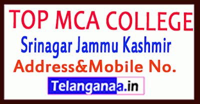 Top MCA Colleges in Srinagar Jammu Kashmir