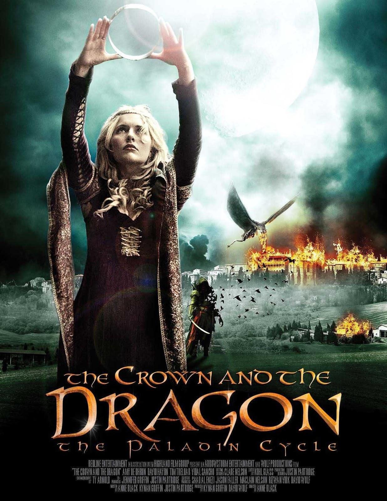 Capa do Filme A Coroa e o  Dragão