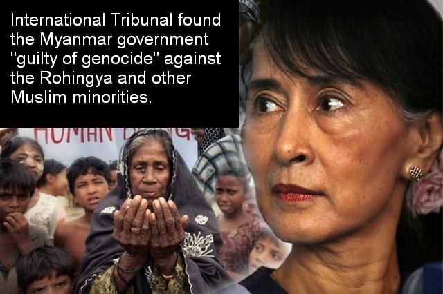 7 Peraih Nobel Desak Suu Kyi Akui Genosida Rohingya