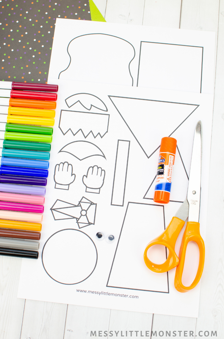 Halloween paper crafts template