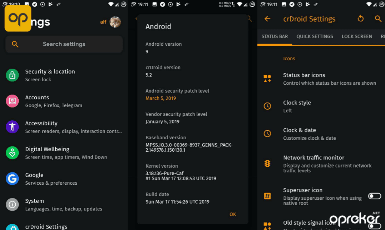 Screenshot ROM CrDroid v5.2 di Xiaomi Redmi 5A