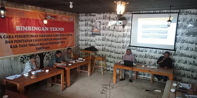 KPU Tana Toraja Gelar Bimtek Penetapan Kursi Calon Terpilih 2019