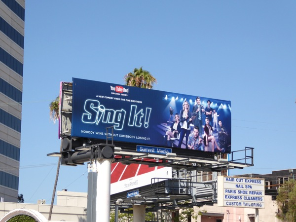 Sing It YouTube Red billboard