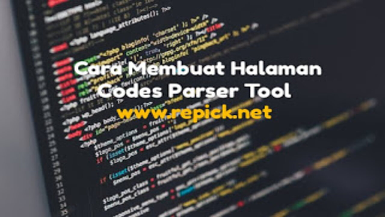 Cara membuat halaman codes parser tool
