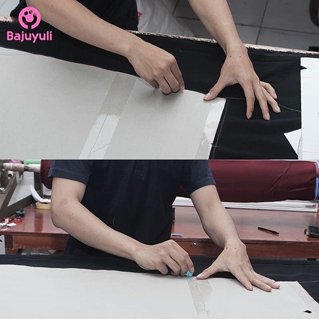 penggambaran pola kain Bajuyuli