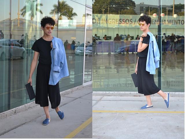 look preto com jeans