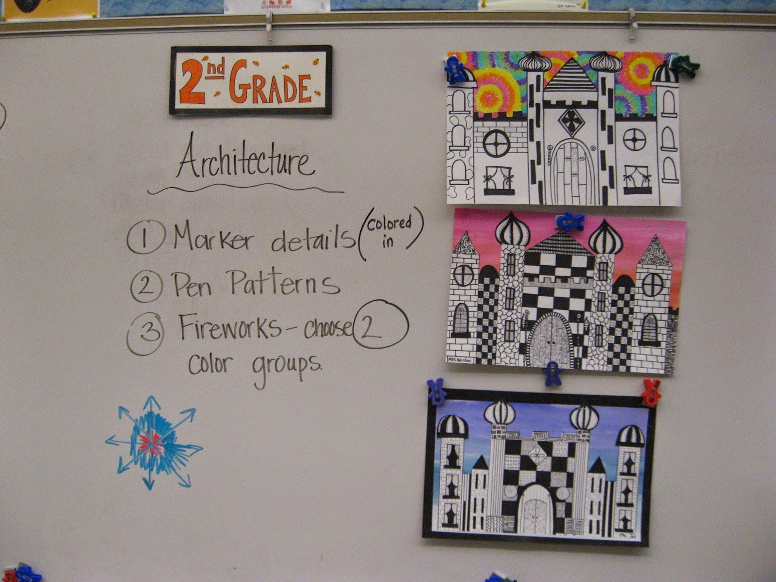 Jamestown Elementary Art Blog 2nd Grade Castle Architecture
