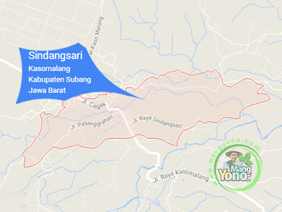PETA : Desa Sindangsari, Kecamatan Kasomalang