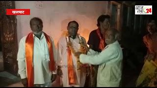 श्री राम भूमि पूजन पर कार सेवको का शॉल श्रीफल देकर किया सम्मानित
