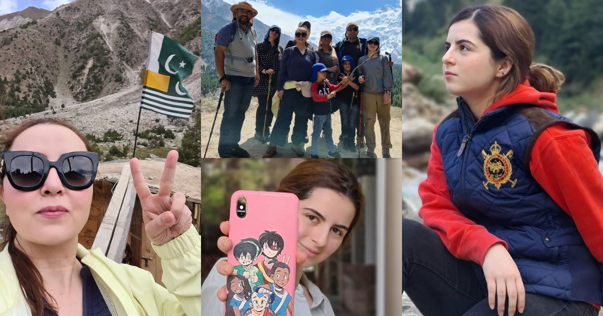 Famous Designer Maria B Enjoying with Family at Fairy Meadows Pakistan
