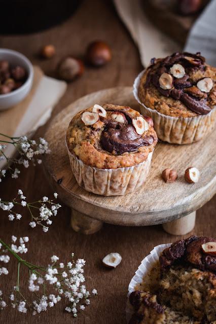 Banana bread muffins à la pâte à tartiner