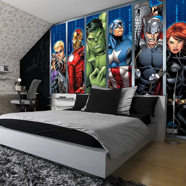 Avengers Wall Mural Teen Room