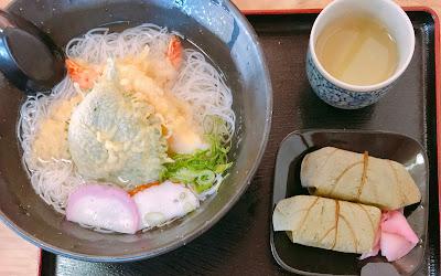 三輪にゅうめんと柿の葉寿司
