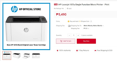 HP Laserjet 107a Single Function Mono Printer