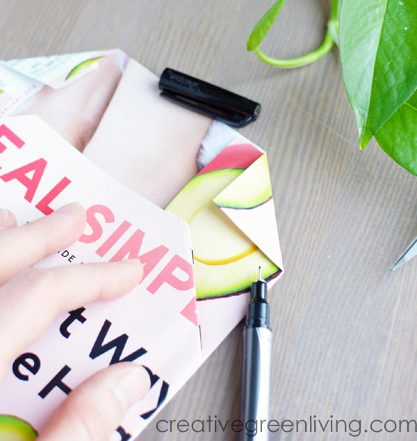 How to make an envelope out of scrapbook paper