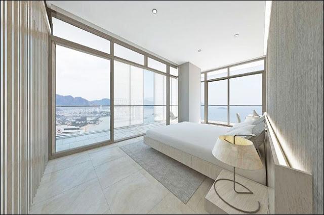 Hình minh họa View từ phòng ngủ căn hộ view biển